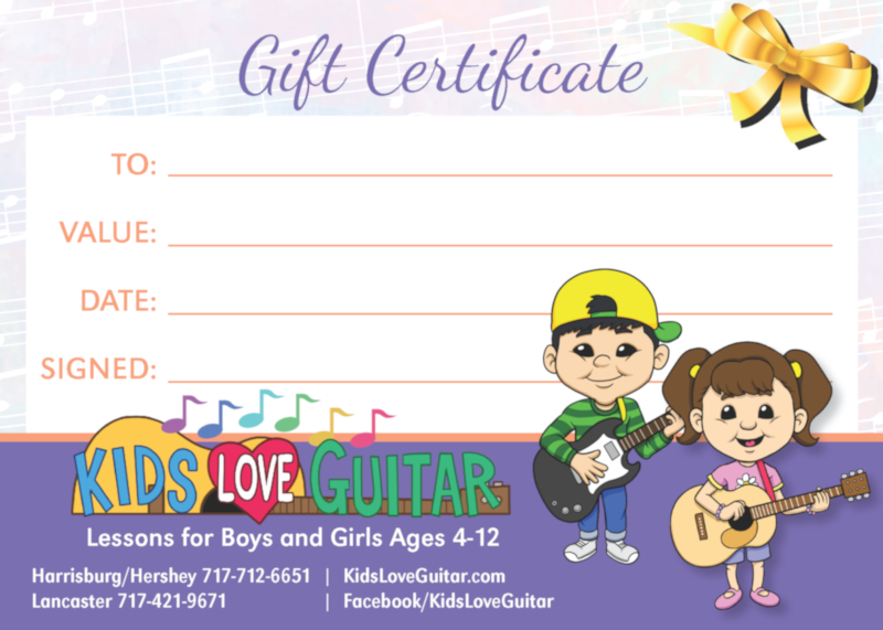 123258 Kids Love Guitar Gift Certificate Proof01 small