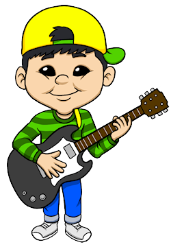 electric guitar boy small